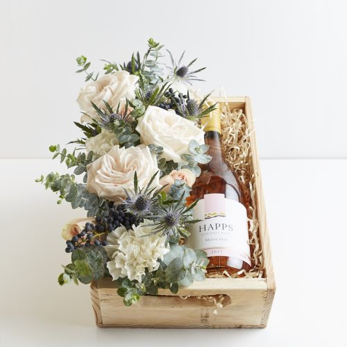 Eagle Bay Flowers and Wine Gift Box - Boxed Indulgence