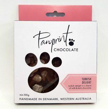 Pawprint Chocolate Block Turkish Delight - Boxed Indulgence