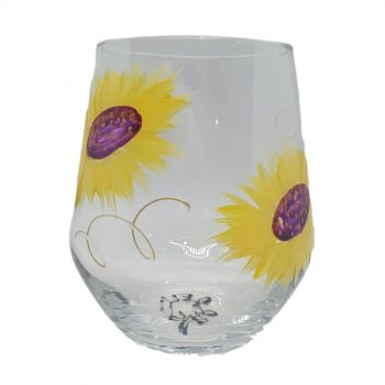Sketch Pad Sunflower Glass - Boxed Indulgence