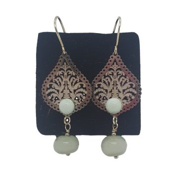 CINDY WRIGHT GLASS Earrings Silver Lace