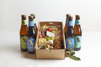 BOXED INDULGENCE Gourmet Grazing Box with Beer