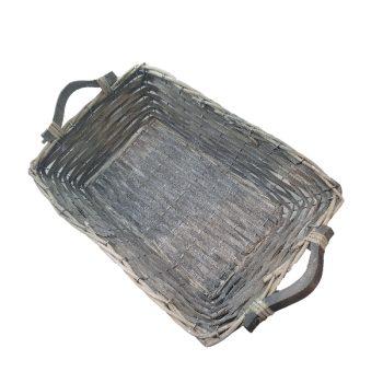 French Grey Willow Basket - Boxed Indulgence